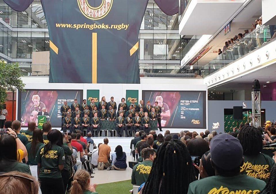 Springboks World Cup Announcement – MultiChoice City